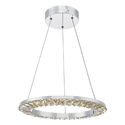 Altamura Pendant Polished Chrome & Crystal Led (Double Insulated) BXALT0150-17